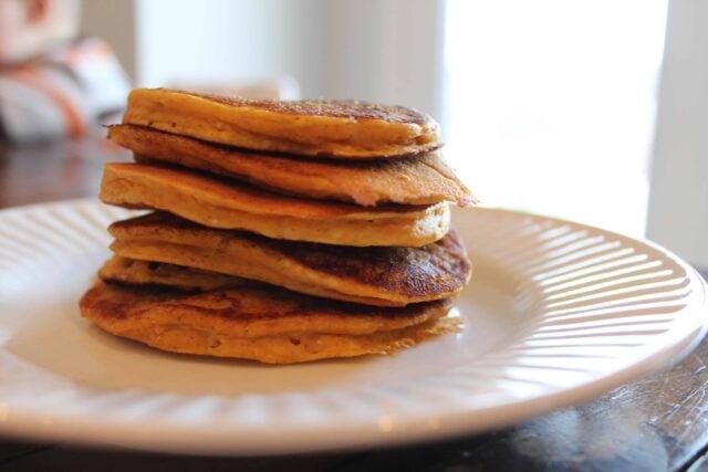 Mmm, easy pumpkin pancakes