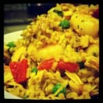 Cooking with Your Kid: Paella with Roasted Red Pepper