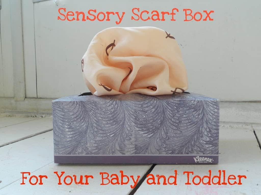 A Weekend Play Idea: Sensory Scarf Box