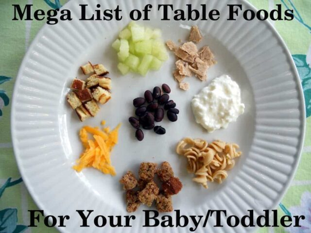 Table and finger food ideas for babies from 10 months old and up. That are safe, easy, & nutritious. Free printable...