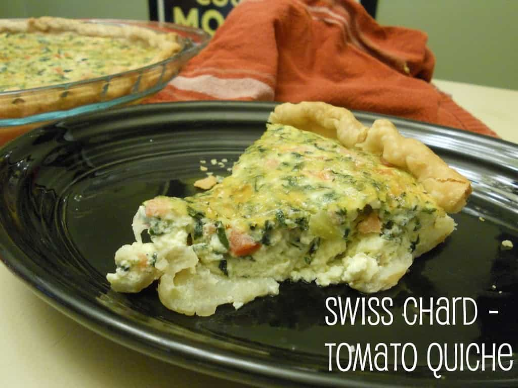 Adaptable quiche, mix and match veggies