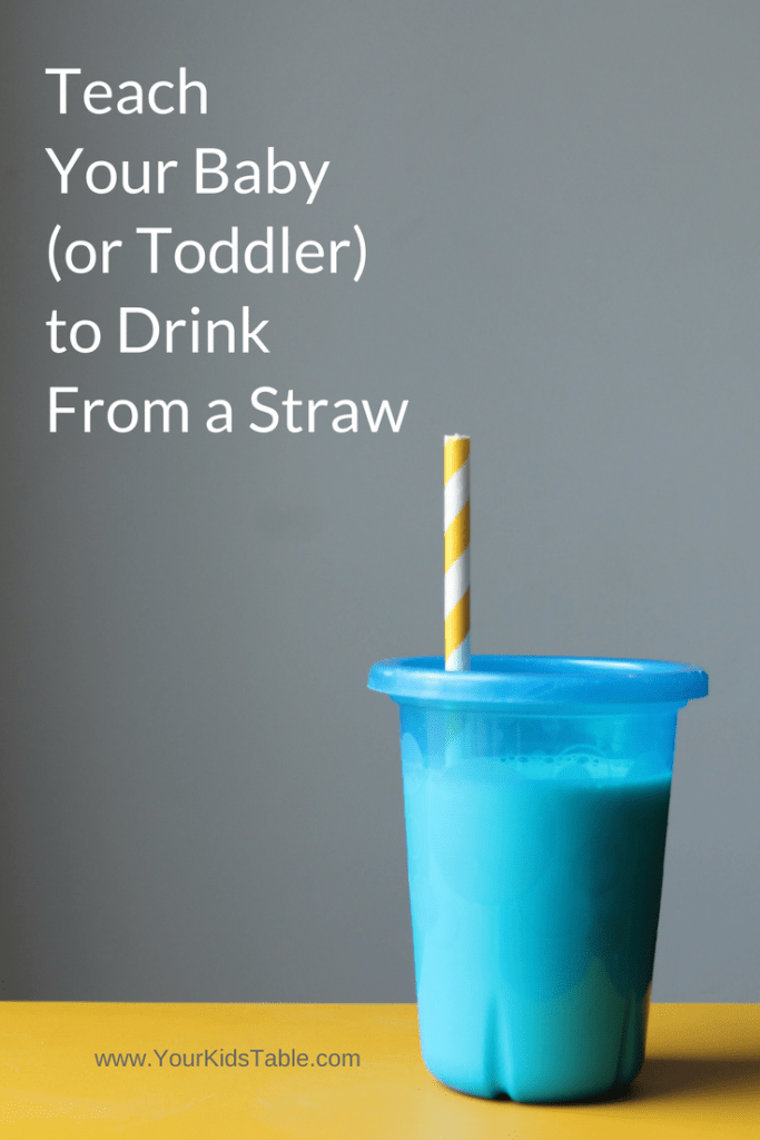 How To Teach Your Baby To Drink From A Straw