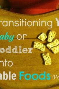 Transitioning Your Baby (or Toddler) to Table Foods