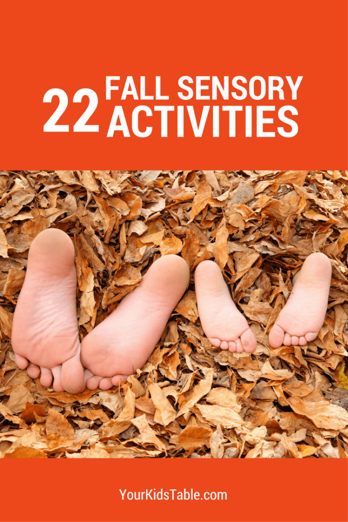22 awesome and easy fall sensory activities that are perfect for toddlers, preschoolers, and kids!