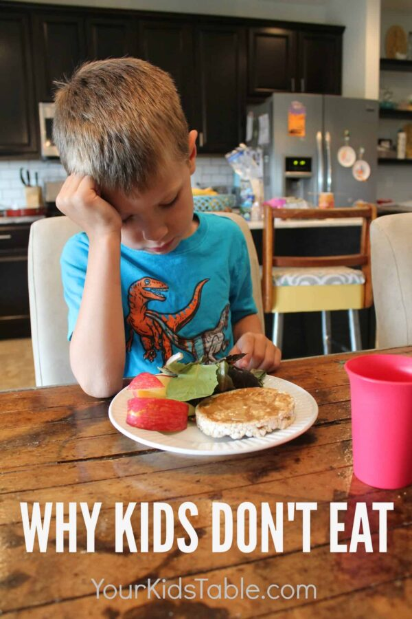 It is so frustrating and confusing when kids don't eat, but there are 5 common reasons that kids are picky eaters. Knowing which one it is will let you know how to help them.