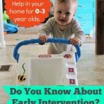 Help for Infants and Toddlers: Early Intervention
