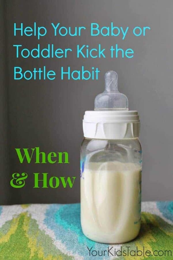 Help your baby or toddler kick the bottle habit