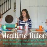 Mealtime Rules: Yea, Nay, or Maybe?