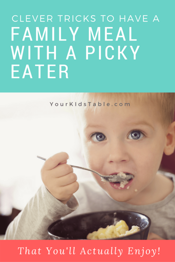 You can have one family meal with a picky eater and stop the short order cooking.
