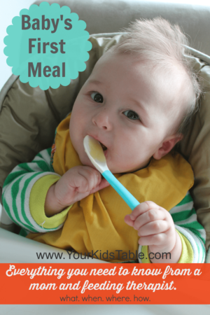 The when, what, and how of introducing baby food from a feeding therapist and mom. Find out the best first foods and what to do at your baby's first meal.