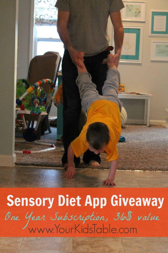 Sensory Diet app