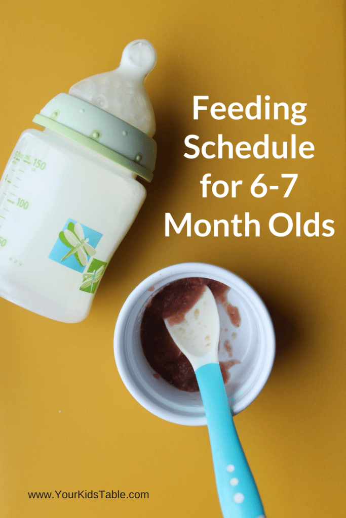 6 month old feeding schedule sample and tips to make it work for your baby through 7 months old.