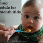 Feeding Schedule for 6 and 7 Month-Olds