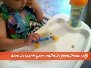 teach your child to feed themself