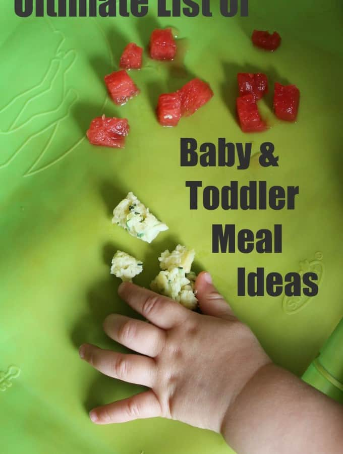 Ultimate list of baby meal ideas