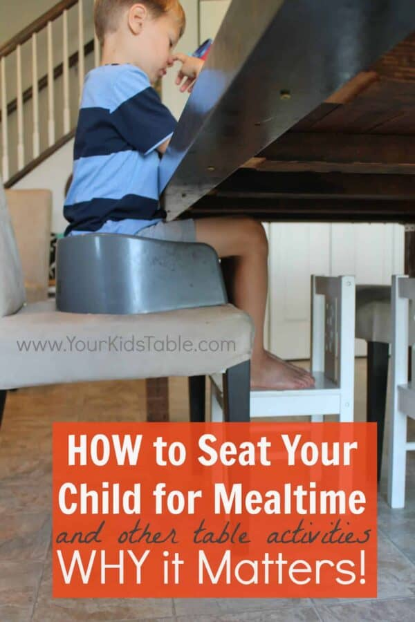 Proper Child Seating for Mealtimes
