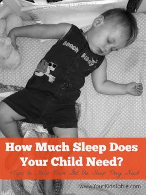 Sleep Requirements for Children