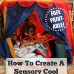 How to Create a Quick and Easy Sensory Tent