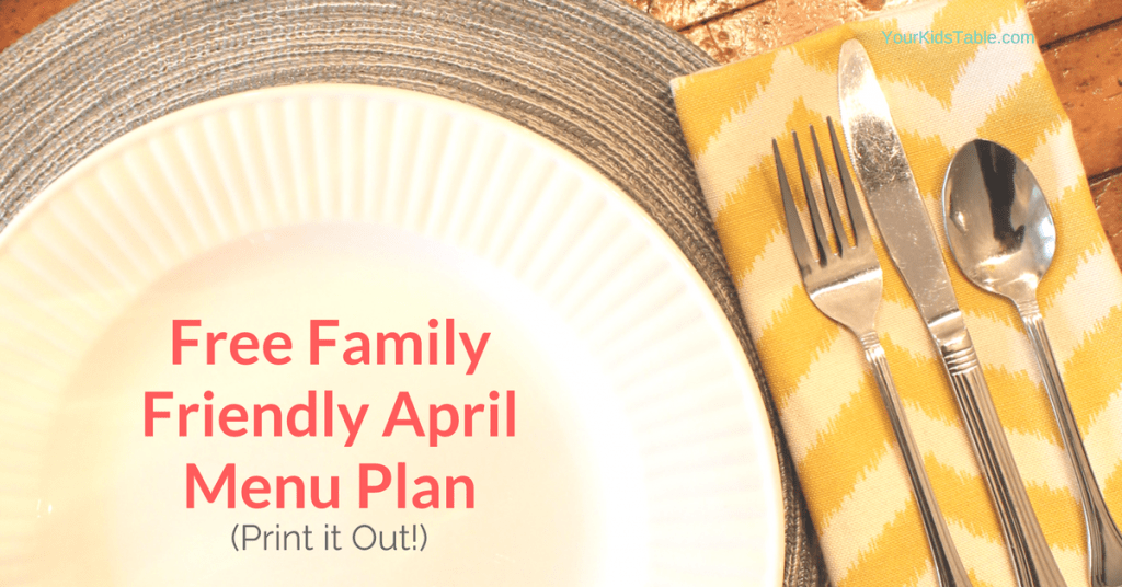 Print out this free menu plan for breakfast, lunch, and dinner meals that your whole family will eat.