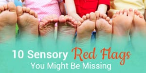 Sensory symptoms and indicators for sensory processing disorder and difficulties.