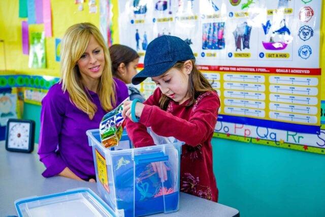 Sensory break box in the classroom