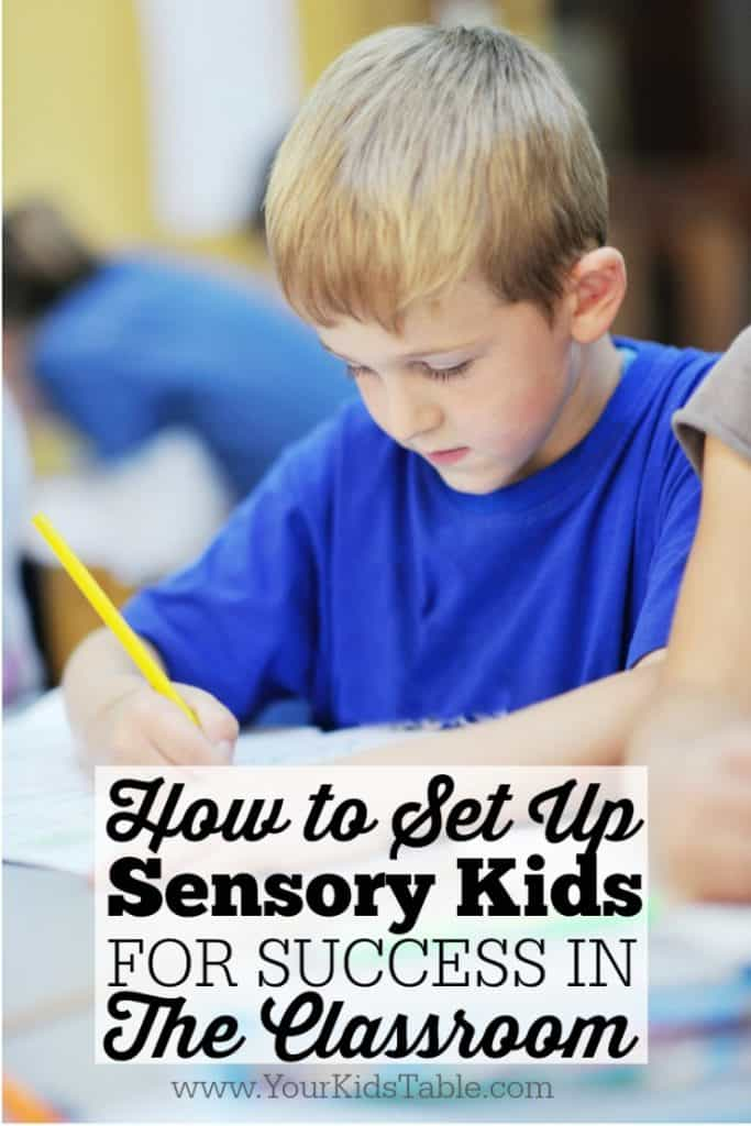 How to Set Up Sensory Kids For Success in a New Classroom