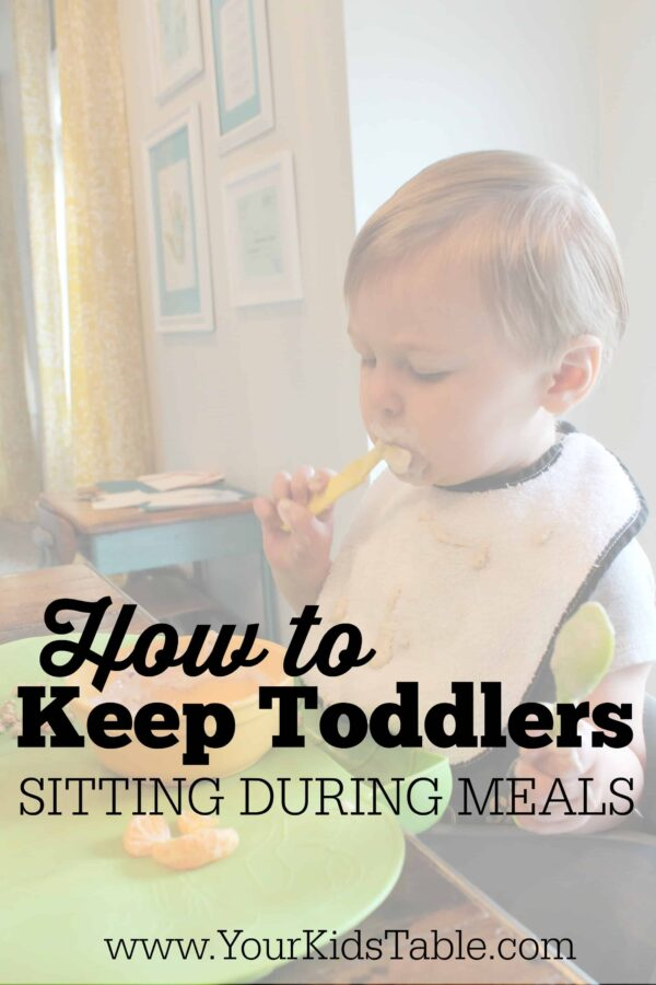Have a wiggly toddler that doesn't want to hang out long for family meals? Must read tips from an OT and 3X mom!