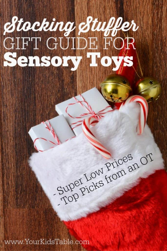 Want to give your kids some inexpensive and beneficial sensory toys this holiday? Don't miss these picks from a pediatric OT and mom. + Tons of expert sensory tips!