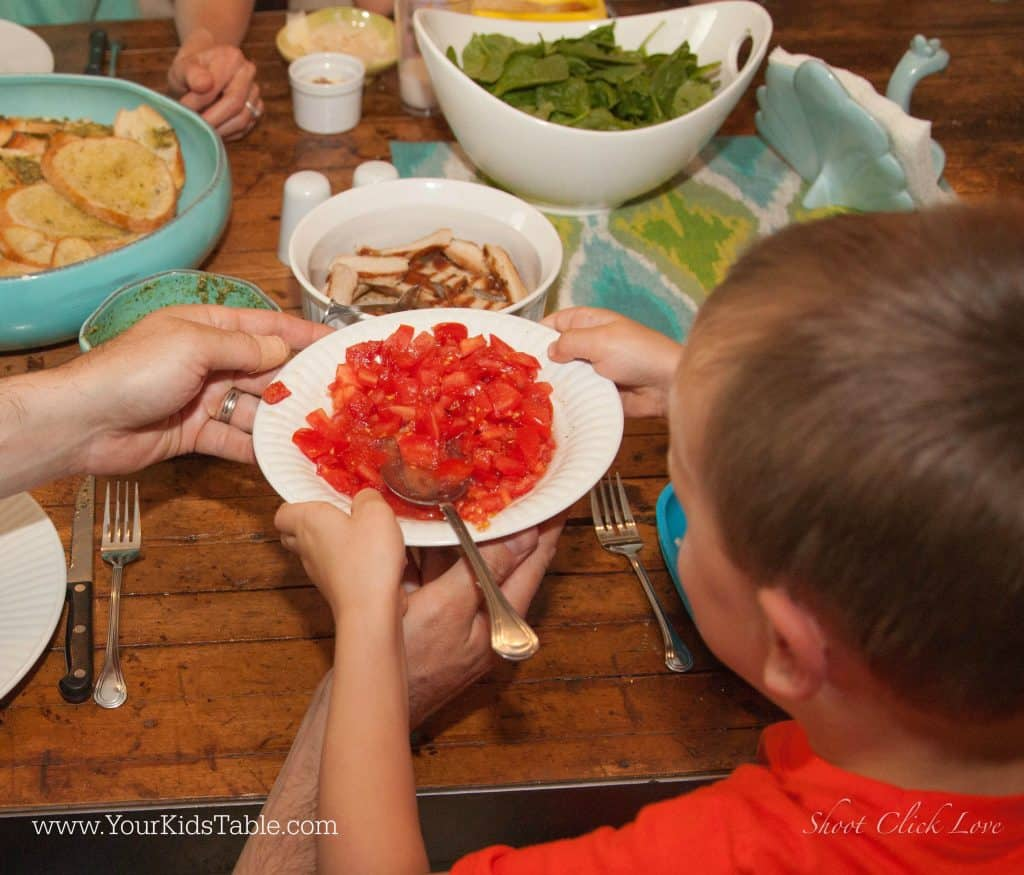 The power of serving foods family style is an amazing tool to help kids develop a healthy relationship with food, especially for picky eaters