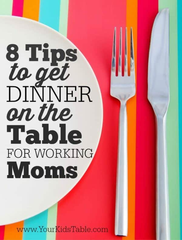 Cooking dinner for your family after work can be done, but you need some new strategies to make it happen, easily and without a battle. I've got you covered in these 8 tips that you can start today!