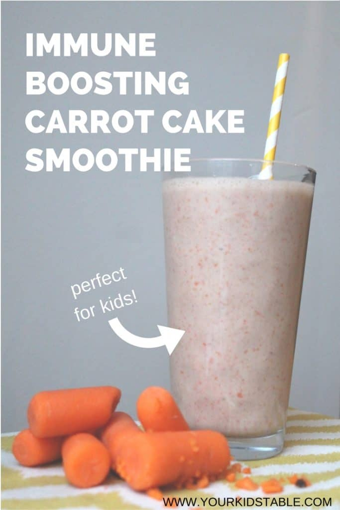Immune Booster Carrot Cake Smoothie for Kids