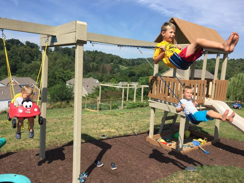 A very powerful sensory diet activity, swinging. Find over 100 more ideas