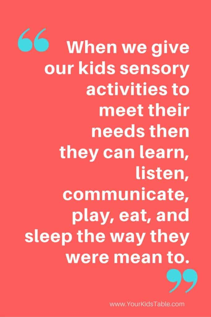 What a sensory diet is really all about. Does your child need a sensory diet? Find out here!