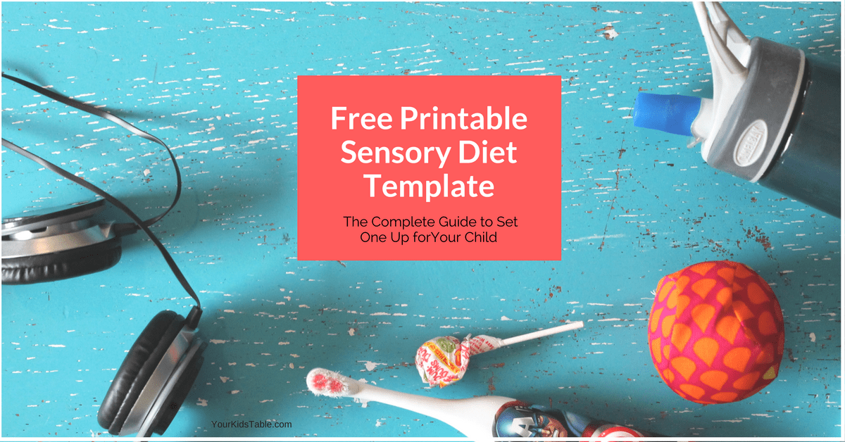 Easy To Use Sensory Diet Template With A Free Pdf Your