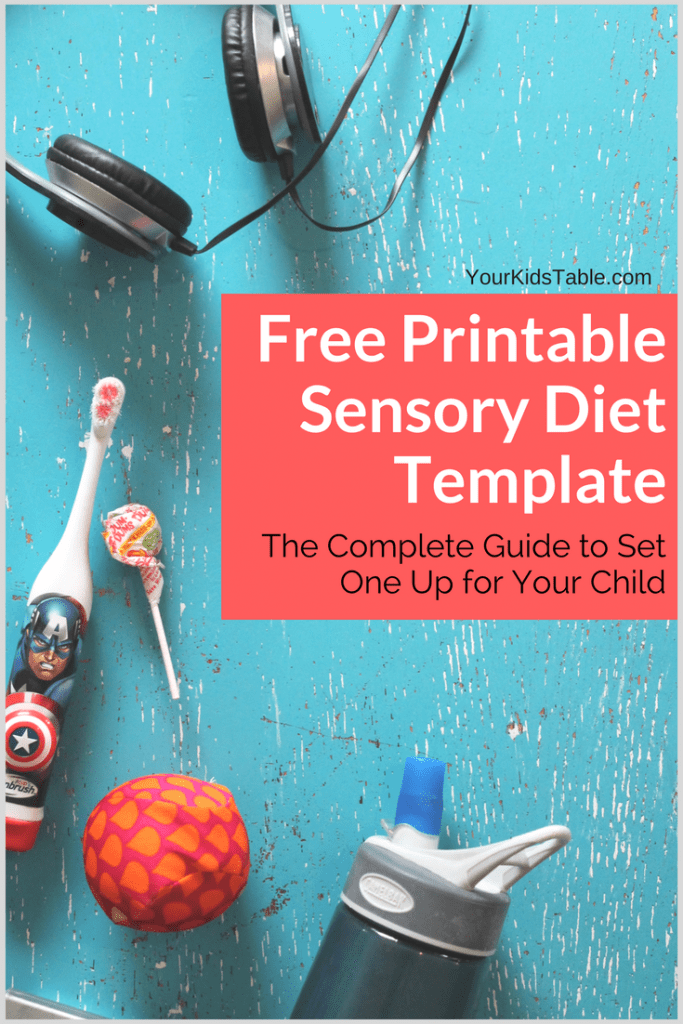 Easy to Use Sensory Diet Template with a Free PDF