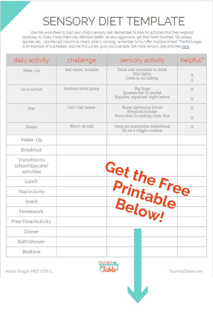 Get The Free Printablebelow Your Kids Table