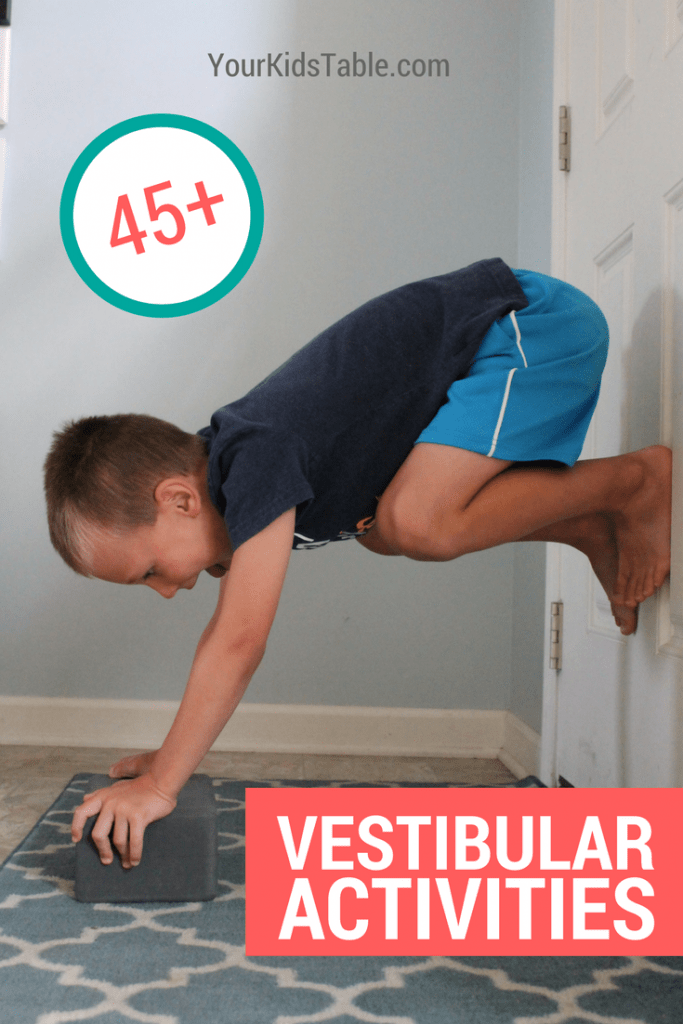 45 vestibular activities that can calm, soothe, and improve attention in your child. Plus, get strategies for kids that seek or avoid vestibular input.