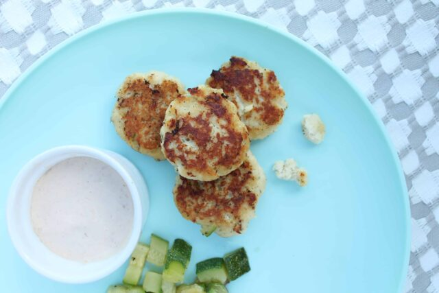 An easy kid friendly fish recipe your child will eat, fish cakes for kids. Quick and yummy with a tasty dip.