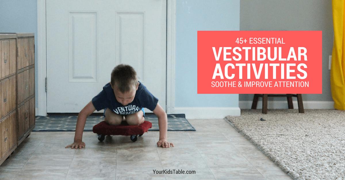 33ec080bd 45 Essential Vestibular Activities and Input Ideas - Your Kid s Table