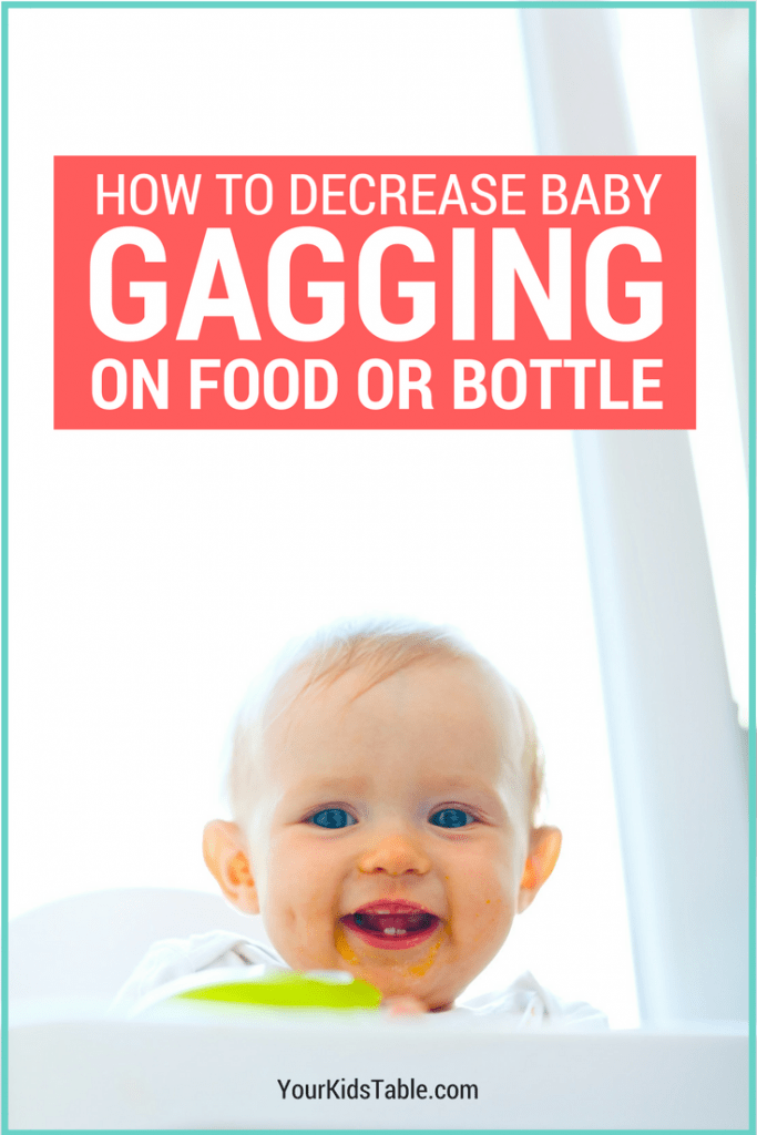 Your baby gagging can be terrifying. Learn about the gag reflex in babies and what to do when babies have a sensitive reflex and gag on food or their bottle.