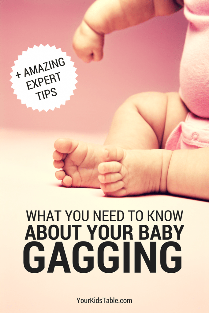 Your baby gagging can be terrifying. Learn about the gag reflex in babies and what to do when babies have a sensitive reflex and gag on food or their bottle