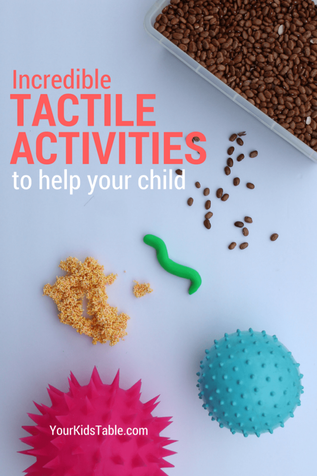 Everything you need to know about the tactile sense from tactile defensiveness, tactile seeking behaviors, tactile play ideas, and the best tactile toys! Plus, the big connection between the tactile system and picky eating.