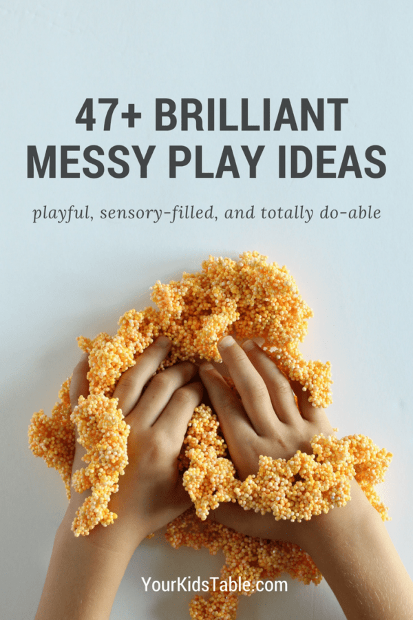 Get inspired with incredible messy play for your child or toddler that's actually easy. 47+ messy play ideas with brilliant tips to keep clean up simple!