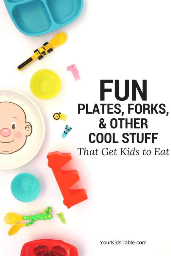 Fun plates for kids and toddlers that make mealtimes enjoyable, and help your kids eat new foods! Plus, kids dinnerware and unique toddler utensil ideas. #PickyEater #ToddlerMeals #FunKidsFood #Christmasgifts