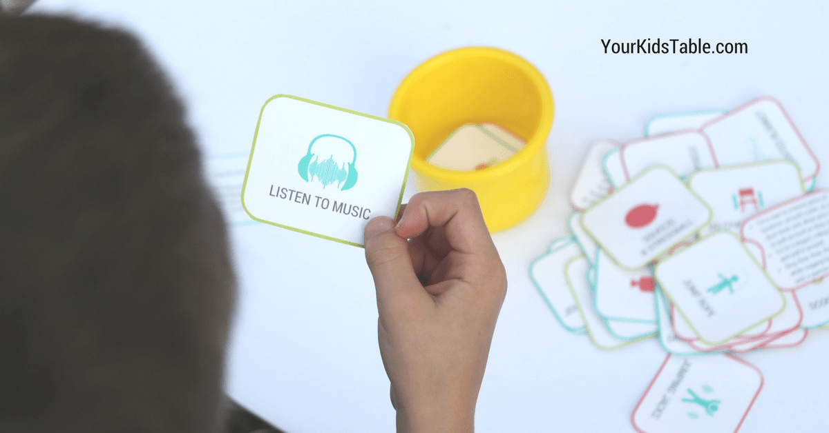 It's just a picture of Refreshing Sensory Diet Cards Printable