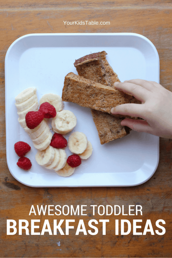 Amazing toddler breakfast ideas that are easy and healthy. Take the stress out of your morning and get peace of mind with more than 15 ideas that your toddler will gobble up. #toddler #breakfastideas #toddlerfood