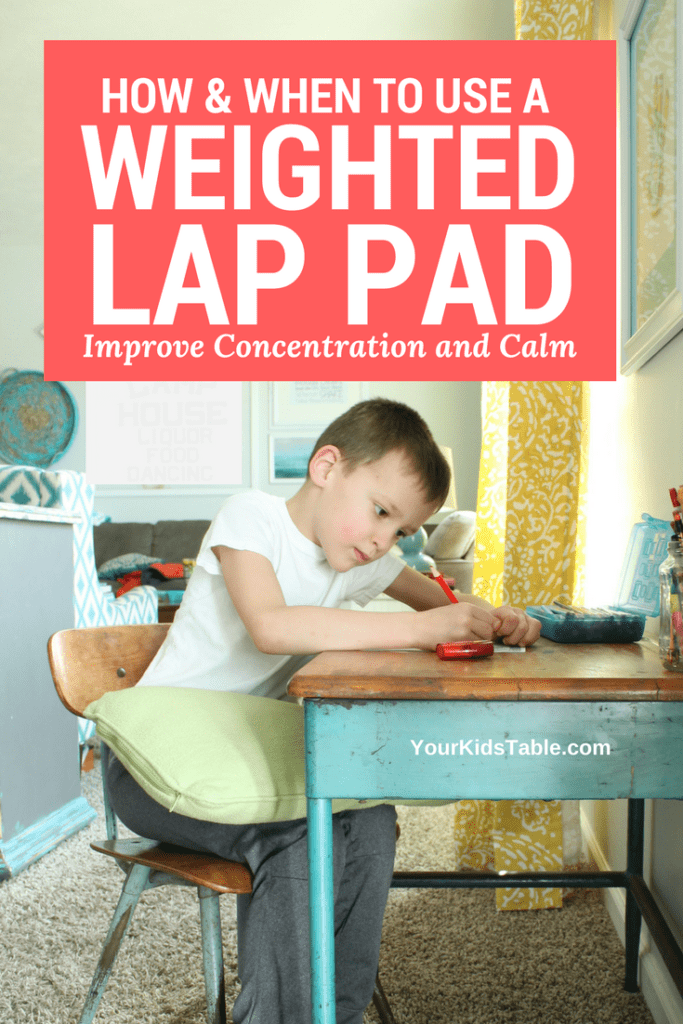 Weighted lap pads can be an amazing sensory tool or toy to help improve your child's attention, focus, or ability to calm down and relax. Learn if one is right for your child. Plus, find out where to get one or how to make your own DIY weighted lap pad. #sensory #sensoryactivities #autism #kids