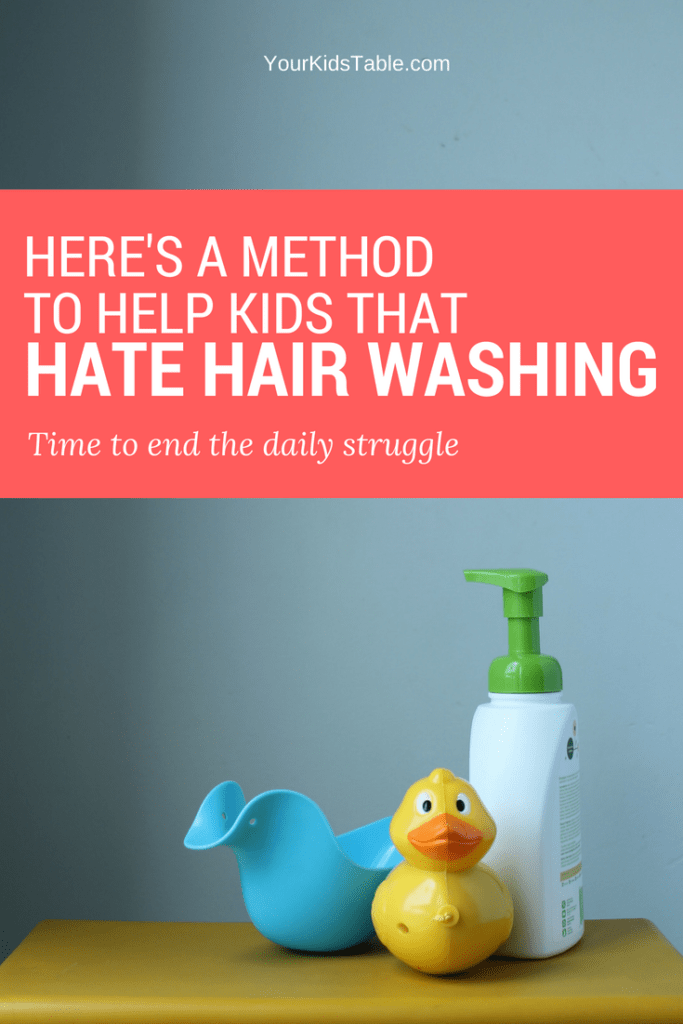 Here's a Method to Help Kids That Hate Hair Washing