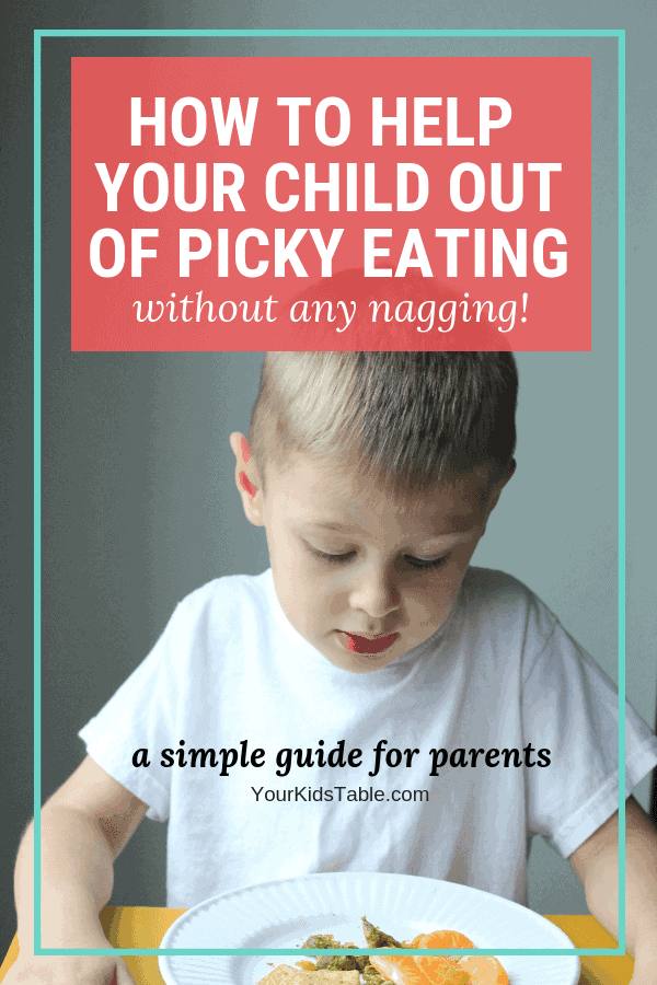Learn how to help your child or toddler with picky eating. Get practical tips and strategies you can start today for the picky eater in your life! #parenting #toddler #pickyeating #pickyeater #yourkidstable #kids