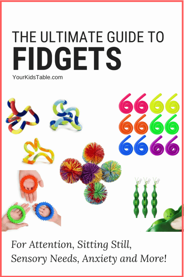The best fidgets for kids to help with anxiety, focus, attention, and calming down. Learn why fidgets for kids work, when they don't, and who they're for. #sensory #anxiety #parenting #backtoschool #kids #toddlers #sensoryprocessingdisorder #autism #adhd